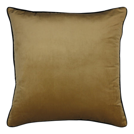 Clifton Wheat Velvet Piped Cushion
