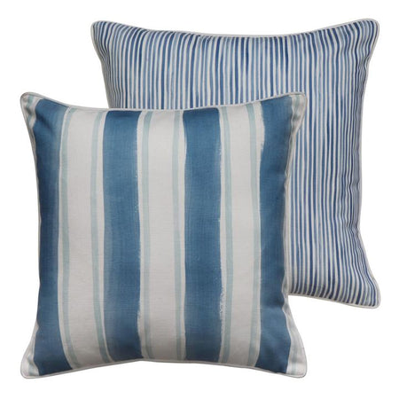 Fraser Stripe Blue Cushion Square