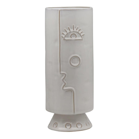 Picasso Face Vase White