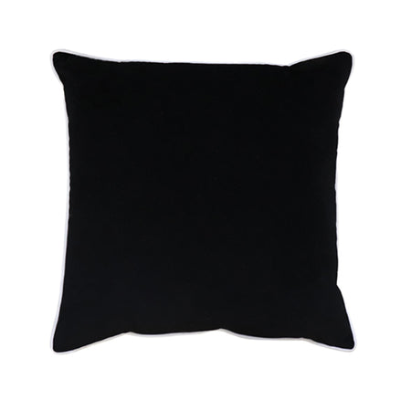 Clifton Black Velvet Piped Cushion 55cm