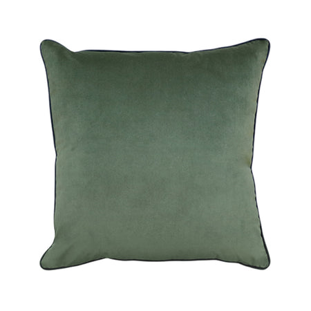 Clifton Olive Velvet Piped Cushion 55cm