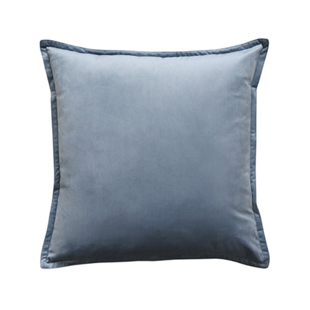 Mira Velvet Grey Blue Cushion 50cm