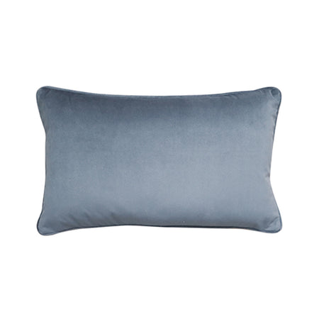 Mira Velvet Grey Blue Cushion 30x50cm