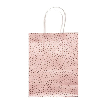Gift Bag Starry Night Pink/Gold 21x27cm