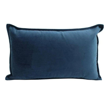 Velvet Cushion Navy Lumbar