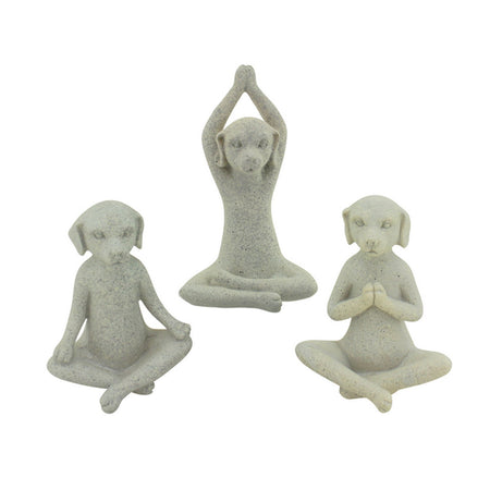 Yoga Dogs Grey Set of 3