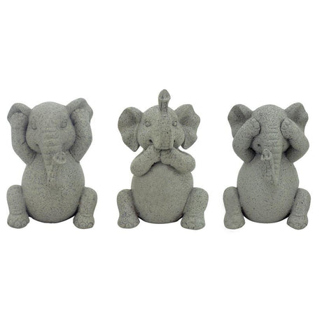 Sitting Baby Elephants Set of 3