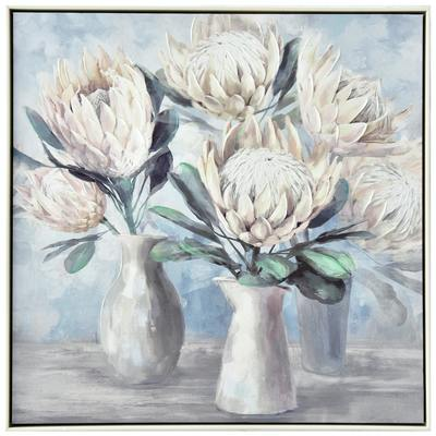 White Protea Painting