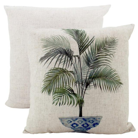Hacienda Potted Palm Cushion Square
