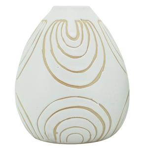Ludic Vessel White With Pattern Small