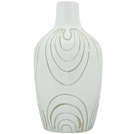 Ludic Vessel With Pattern White Large