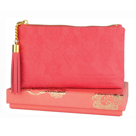 Coral Crush Coin Purse