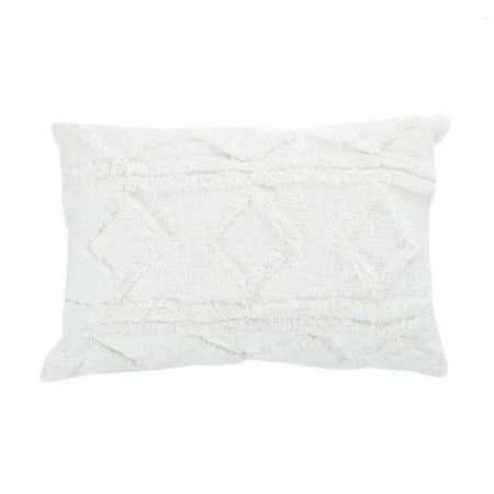 Morocco Coton Cushion Lumbar White
