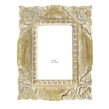 Cato Small Wood Frame White Wash