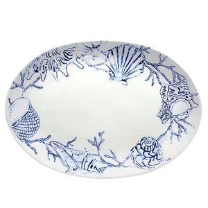 Sealife Oval Ceramic Platter