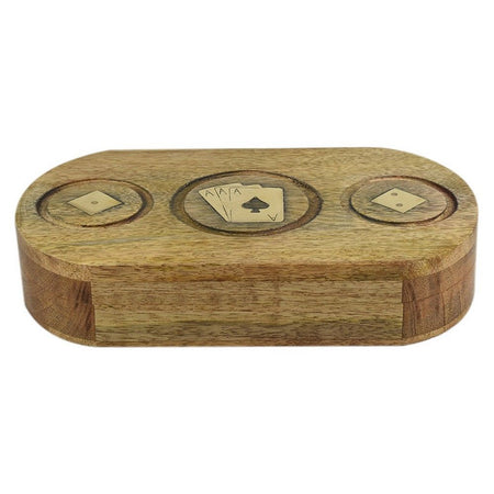 Dice & Cards Wood Box Natural