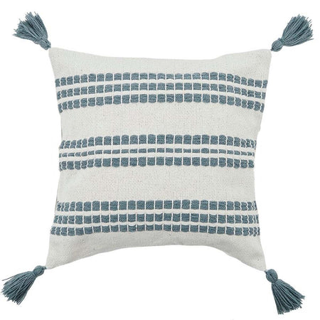 Erik Cotton Cushion White/Blue