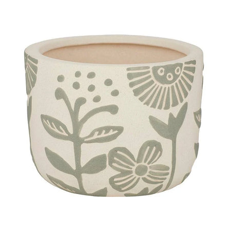 Joplin Ceramic Pot Green