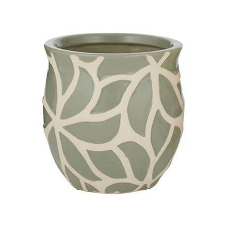 Maeve Ceramic Pot Small Natural Green