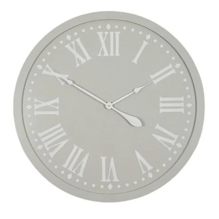 Constance Clock 80cm Taupe White
