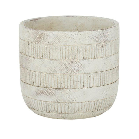 Inara Cement Pot Ivory Large