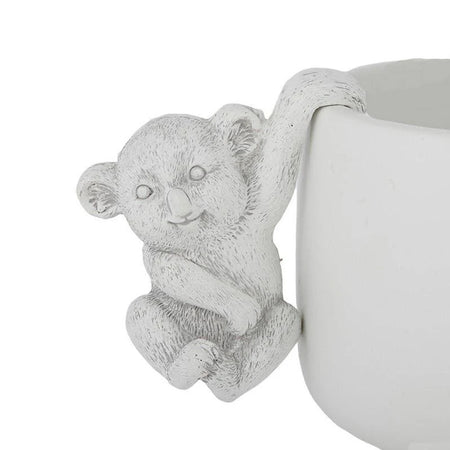 Katy Koala Resin Pot Hanger Grey