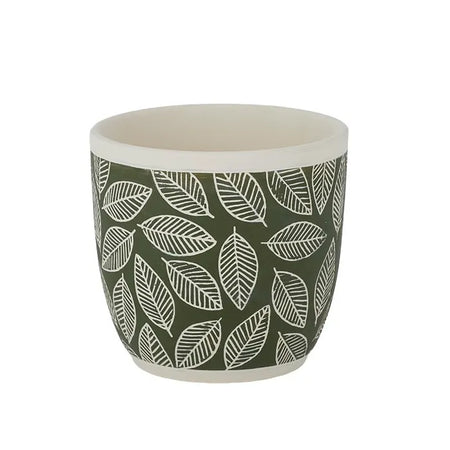Feuille Pot 13.5x12.5cm Dark Green