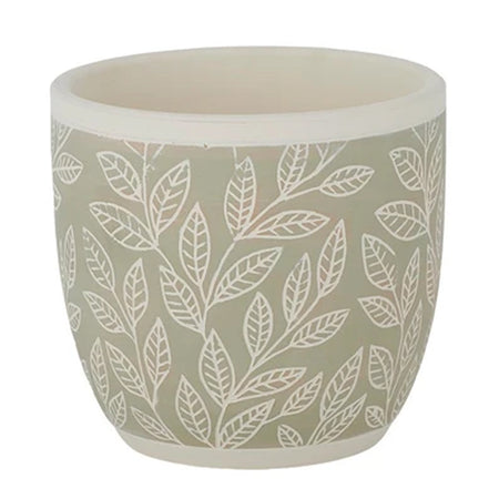 Foglia Terracotta Pot Light Green Large