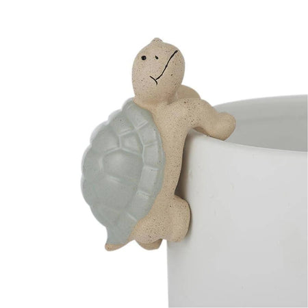 Tom Turtle Ceramic Pot Hanger Green