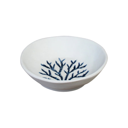 Coral Ceramic Bowl White/Blue