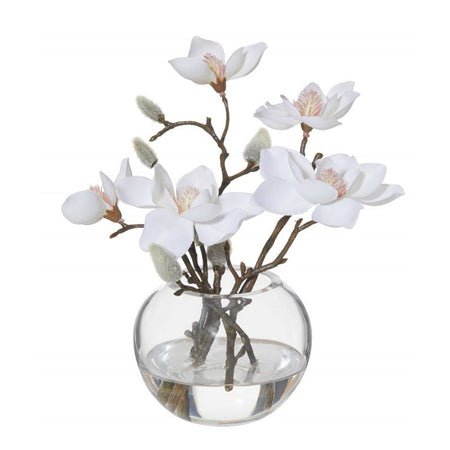 Magnolia Sphere Vase White Small