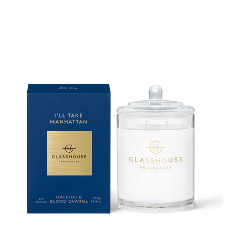 Glasshouse Fragrances Ill Take Manhattan 380g Candle