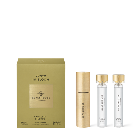 Glasshouse Fragrances Twsit & Refillable Atomise Gift Set Kyoto In Bloom