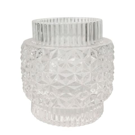 Crease Tea light Large Clear