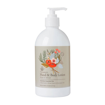 Therapeutic: Rose & Vetiver Hand Lotion 500ml
