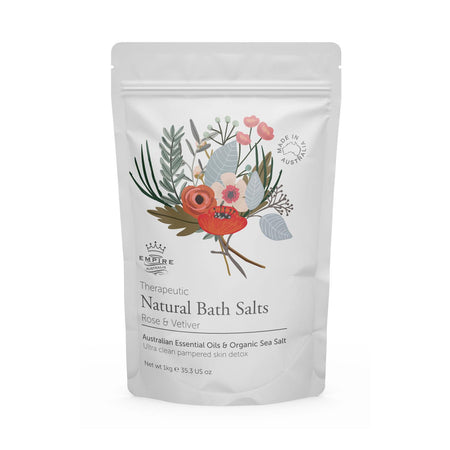 Therapeutic: Rose & Vetiver Bath Salts 1kg