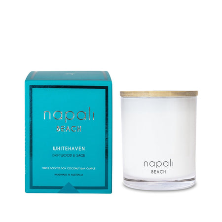 Napali Whitehaven Driftwood & Sage Large Candle Whitehaven
