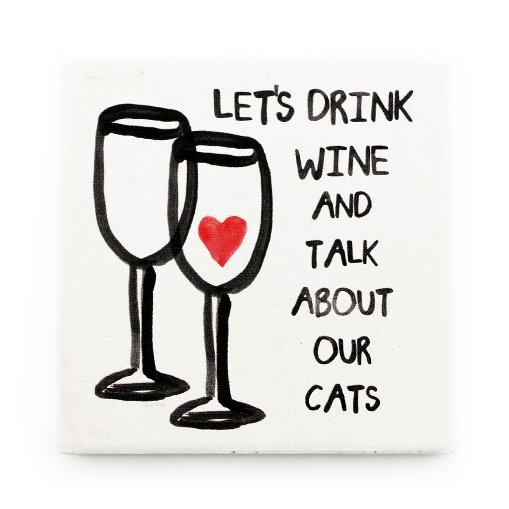 Wine & Cats <br> Coaster