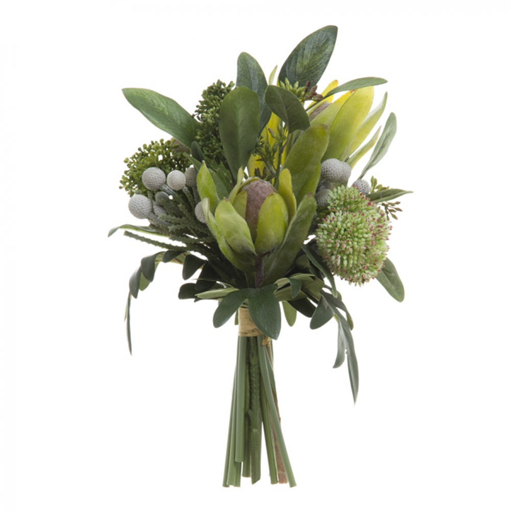 Eucalyptus Berry Bouquet - Green - 30cm