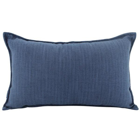 Linen Navy Cushion Lumbar
