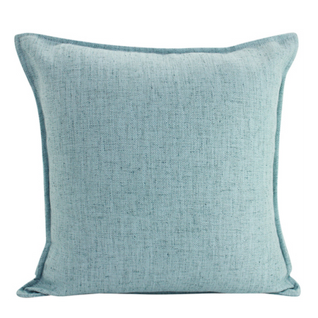 Linen Light Blue Cushion Square