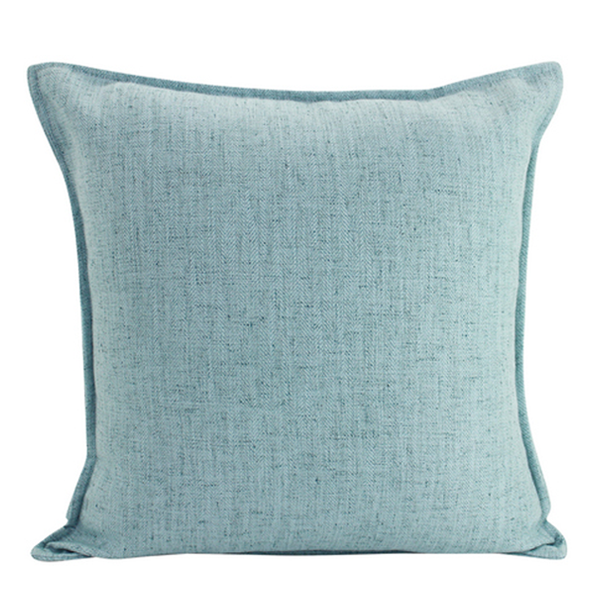 Linen Cushion - Light Blue