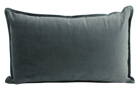 Velvet Cushion Smoke Lumbar