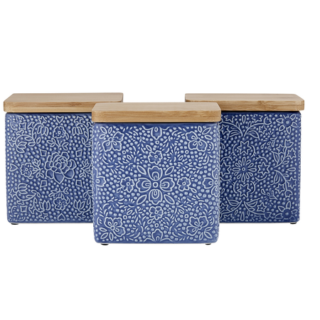 Flora Dots Blue Canister