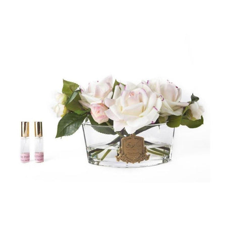 Cote Noire Perfumed Luxury Oval Rose Boquet French Pink - Pink Box
