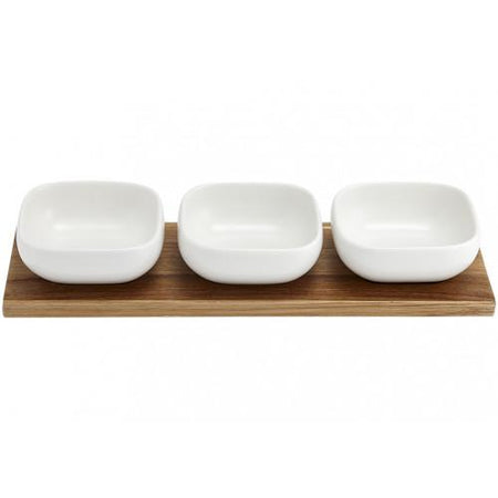 Essentials White 4pce Bowl Set