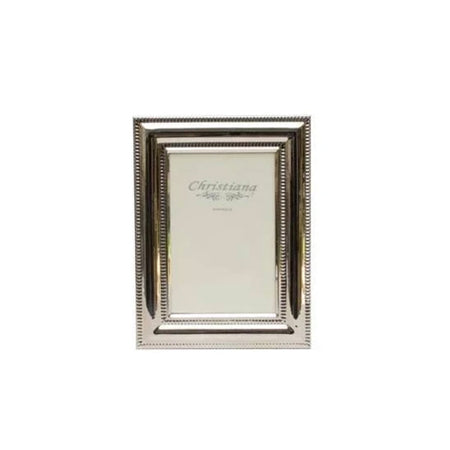 Frame Silver Beaded Small