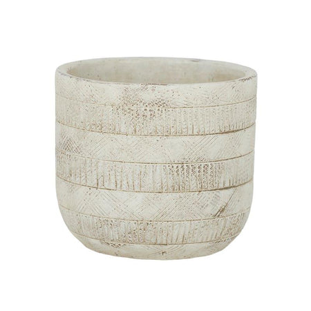 Inara Cement Pot Ivory Small
