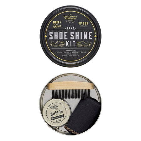 Gentlemens Hardware Travel Shoe Shine Tin
