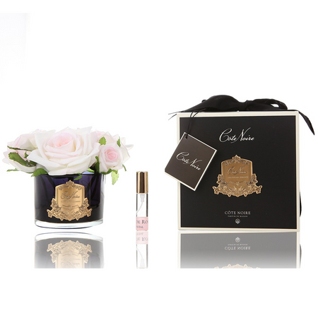 Cote Noire Perfumed Five Rose Pink Blush - Black Glass